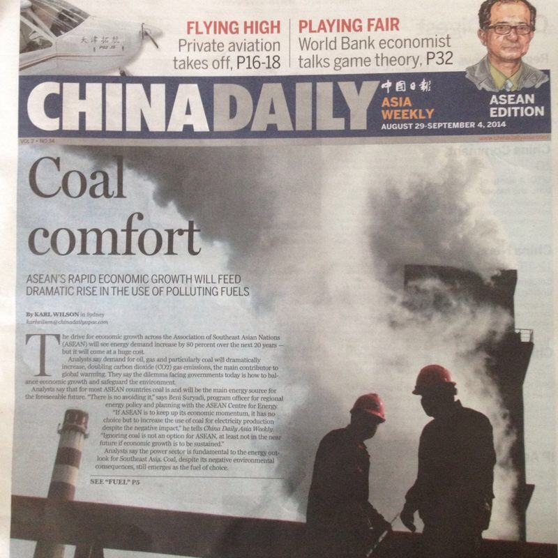 Front Page China Daily Asia Weekly ASEAN Edition, 29 August 2014